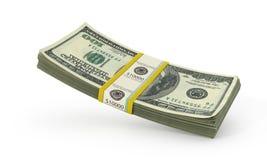 Money Stack - Isolated on White Background. 3d illustration stock illustration