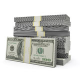 Money stack. On the white background Stock Photography