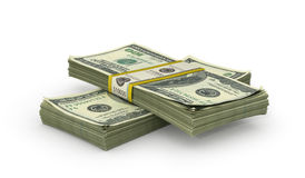 Money Stack - on White Background. 3d illustration vector illustration