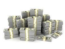 Money stack on white background Stock Photography