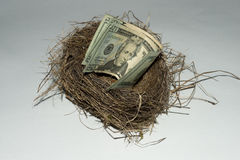 A money stacked nest egg Royalty Free Stock Photography