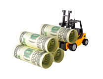 Money stacking Stock Images