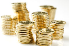 Money stacks stock photography