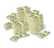 Money stacks banknotes pile concept Stock Photos