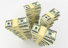 Money stacks Royalty Free Stock Photos