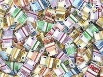 Money stacks of euros. Money stacks. Euro bank notes. 3D illustration stock illustration