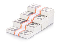 Money stacks graph Royalty Free Stock Images