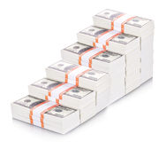 Money stacks graph Stock Images