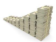 Money stacks graph. Stock Photography