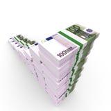 Money stacks graph. Stock Image