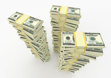Money stacks Stock Images