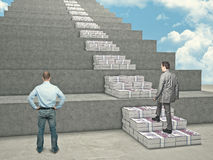 Money stair Stock Image