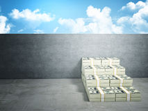 Money stair Stock Photos