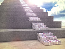 Money stair Royalty Free Stock Images