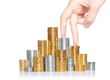 Money staircase Stock Image
