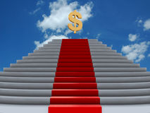 Money stairs Royalty Free Stock Photos