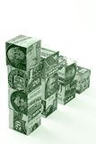 Money stairs concept Stock Images