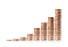 Money stairs Stock Photography