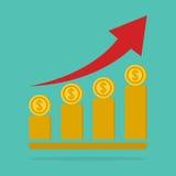 Money stairway, money growth concept. Money stairway, money growth concept stock illustration