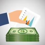 Money and statistics Royalty Free Stock Photos