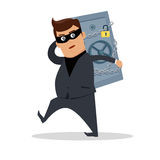 Money Stealing Concept Flat Design Vector Royalty Free Stock Photography