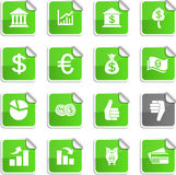 Money stickers. Royalty Free Stock Photo