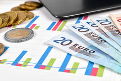 Money and stock chart Stock Image