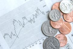 Money and stocks Stock Photography