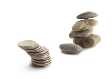 Money and stones Stock Photography