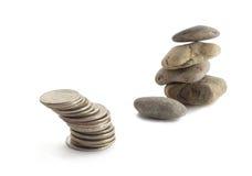 Money and stones Stock Photography