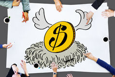 Money Strong Economy Finance Invesment Concept Royalty Free Stock Photos