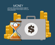 Money and suitcase icon design, vector illustration Stock Images
