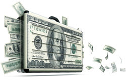 Money support. High resolution 3D rendering of a money support concept Stock Photography