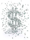Money Swarm Royalty Free Stock Photos