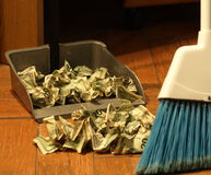 Money sweep 13 Stock Images