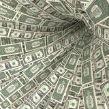 Money swirl of 1 dollar bills Stock Photos