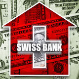 Money in swiss bank Stock Image