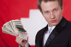 Money in switzerland Stock Photo