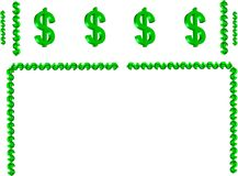 Money Symbol Border In 3d Royalty Free Stock Photos