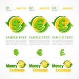 Money symbol infographic Royalty Free Stock Image