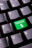 Money symbol on a keyboard Stock Photo