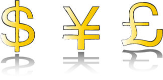 Money symbol set Stock Images