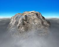 Money symbol shape rocky mountain. With cloudy below and blue sky Royalty Free Stock Photos