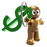 Money symbol trainer 3d icon Royalty Free Stock Photography