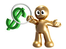 Money symbol trainer 3d icon Royalty Free Stock Photos