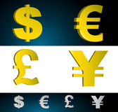 Money Symbols. Money currency symbols. Vector file also available Royalty Free Stock Photo