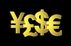 Money symbols Stock Image