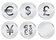 Money symbols circle icon Stock Image
