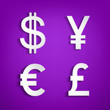 Money symbols. Stock Photo