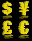 Money symbols gold Royalty Free Stock Images
